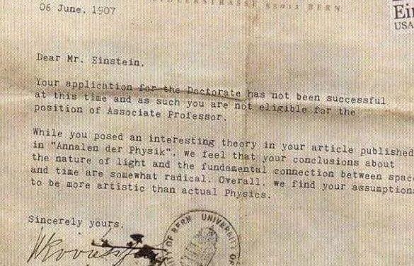 Η στιγμή που ένα πανεπιστήμιο απέρριψε τον… Αϊνστάιν !!!